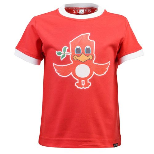 Kids Liverpool Liver Bird T-Shirt - Red/White Ringer
