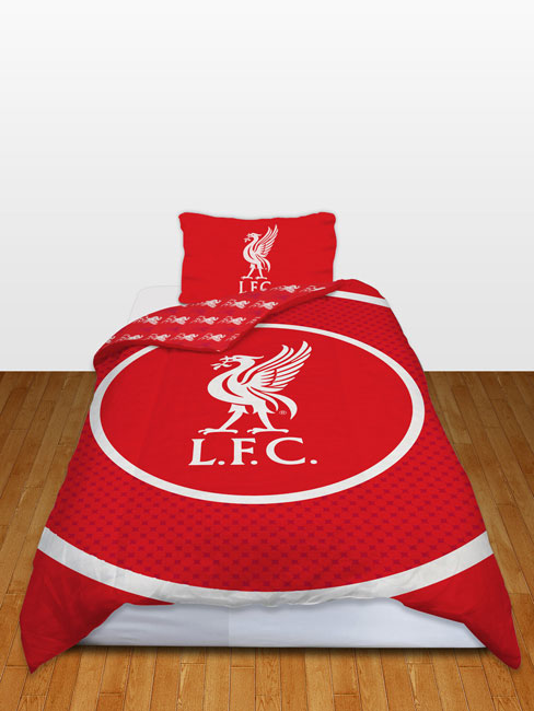 Liverpool FC Bullseye Single Reversible Duvet Cover and Pillowcase Set
