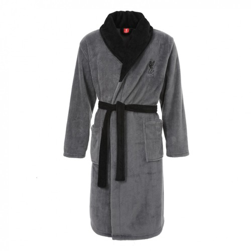 LFC Mens Grey Classic Dressing Gown