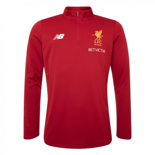 Red Liverpool FC Training Zip Sweat 17-18