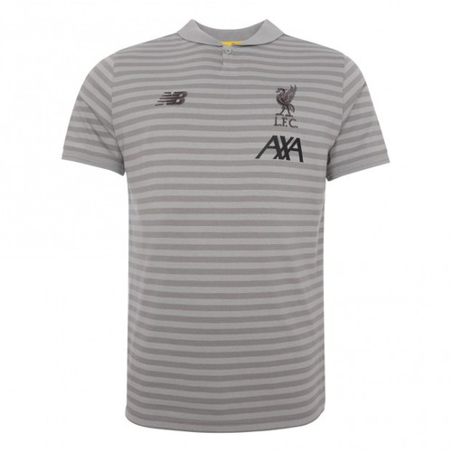 2019-20 LFC Mens Grey Travel Polo Shirt