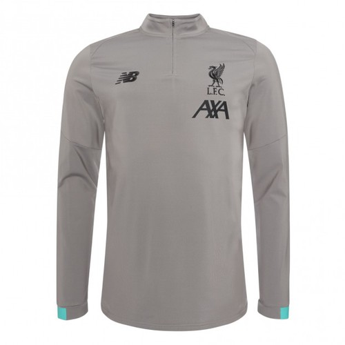 LFC Mens Grey On Pitch Long Sleeve Midlayer 19/20
