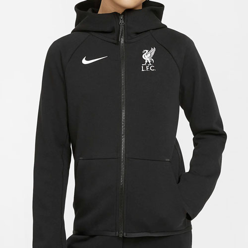 LFC Kids Black Tech Pack Zip Hoodie