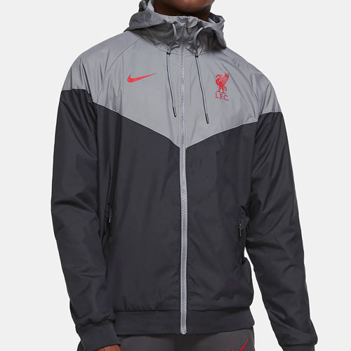 LFC Nike Grey and Black Windrunner Jacket