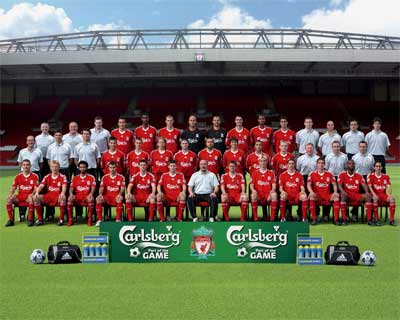 Liverpool FC Squad Photo 2008/09