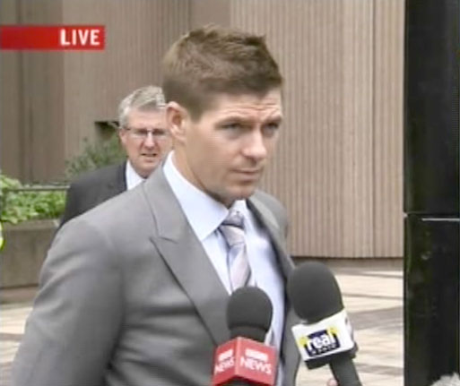 Steven Gerrard cleared of affray