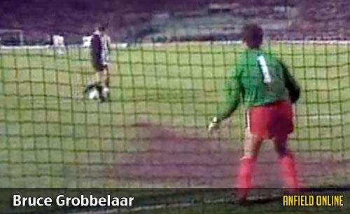 Bruce Grobbelaar - spaghetti legs against Roma
