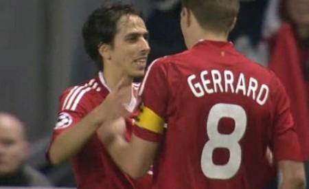 Yossi celebrates goal against Fiorentina