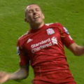 Craig Bellamy scores his first Premier League goal of his second spell at Liverpool