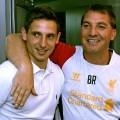 Joe Allen signs for Liverpool - alongside Brendan Rodgers