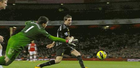 Henderson scores against Arsenal