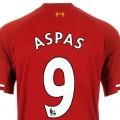 Aspas Number 9 LFC Shirt