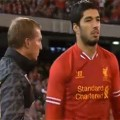 Luis Suarez comes on as a substitute in Melbourne