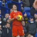 Suarez enjoys the banter at Goodison Park v Everton