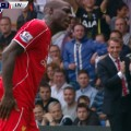 Brendan Rodgers laughs at Mario Balotelli's miss