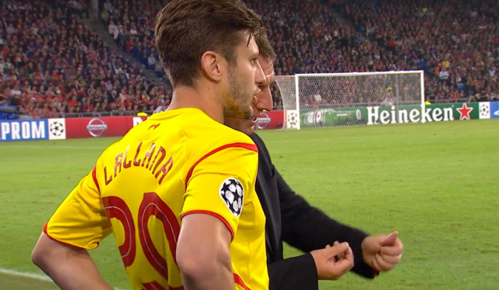 Lallana comes on in Basel