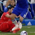 Diego Costa stamps on Emre Can's leg