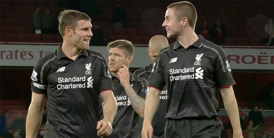 Jordan Rossiter makes his Premier League debut for Liverpool