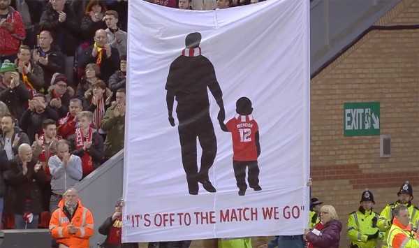 Flag for Owen McVeigh at Anfield