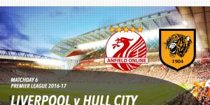 LFC v Hull City in the Premier League at Anfield