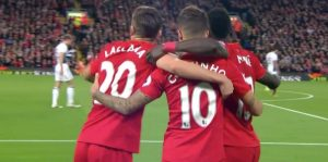 Lallana, Coutinho and Mane