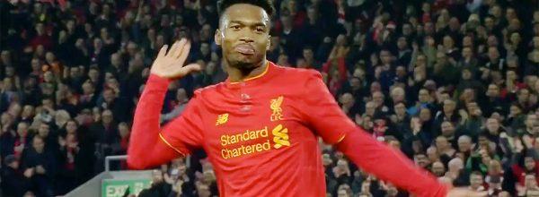 Daniel Sturridge scores twice against Spurs in the League Cup