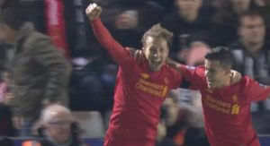 Lucas Leiva scores for LFC
