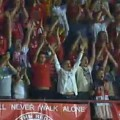 Liverpool fans travelled to FC Gomel in Belarus