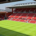 Mock-up of a redeveloped Main Stand and Anfield Road at Anfield