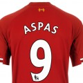 Aspas Number 9 LFC Shirt