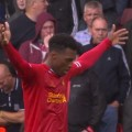 Sturridge celebrates LFC's first goal of the season