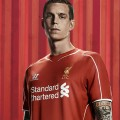 Daniel Agger in the new LFC home kit 2014-15