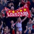 LFC Fans celebrate at Norwich