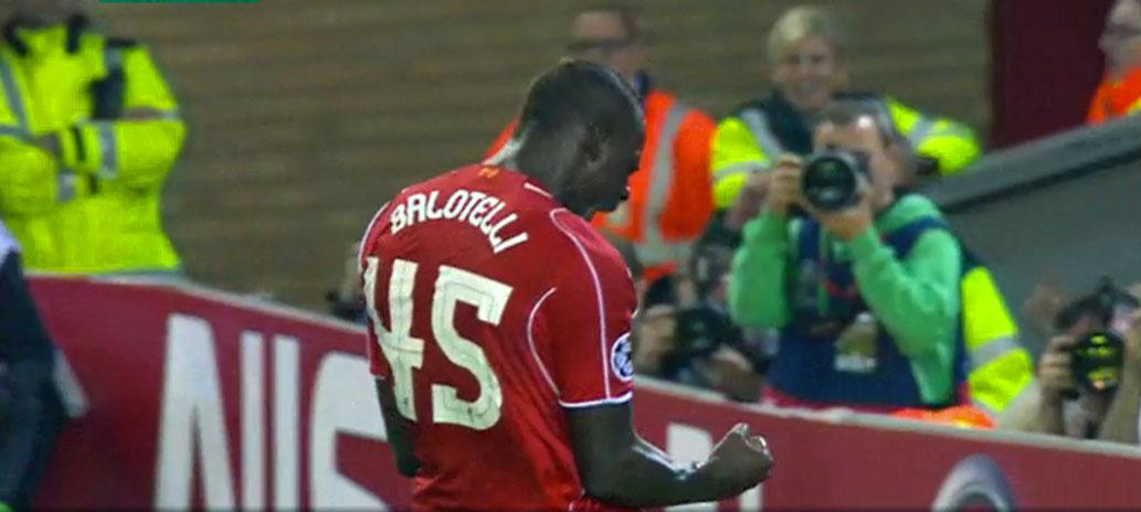 Mario Balotelli debut goal for LFC