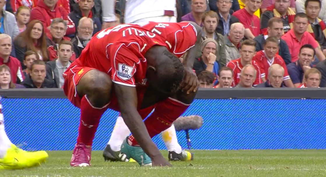Mario Balotelli had a disappointing Anfield debut
