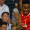 Raheem Sterling celebrates against Spurs (Anfield Online)