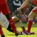 Gerrard given red card in his final Liverpool - United game