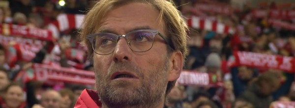 Klopp watches Liverpool fans singing You'll Never Walk Alone