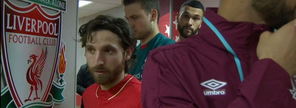 Joe Allen captains Liverpool against West Ham in the FA Cup at Anfield