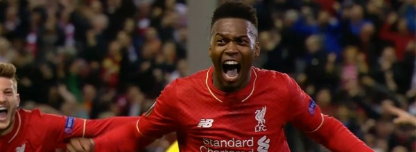 Daniel Sturridge celebrates the second against Villarreal