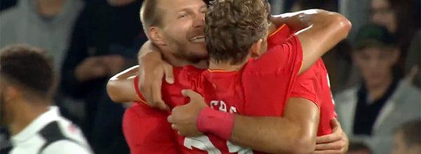 Ragnar Klavan gets his first goal for Liverpool