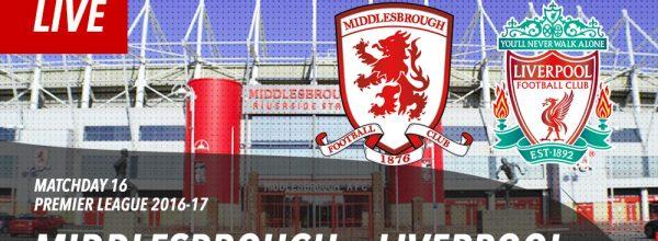 LIVE: Middlesbrough v Liverpool