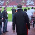 Klopp walks out at Anfield before warm-up v Burnley