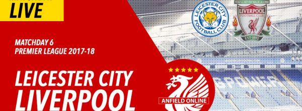LIVE: Leicester City v Liverpool 2017-18