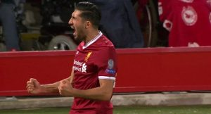 Emre Can celebrates against Maribor