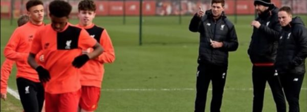 Steven Gerrard - LFC U18's coach