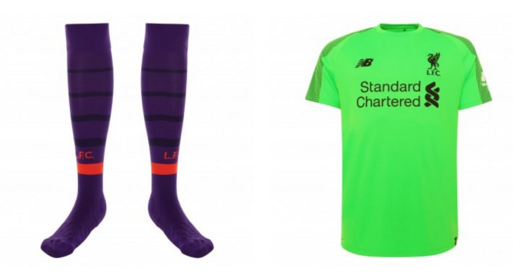 New LFC Away Kit Socks and Goalie Kit 2018-19