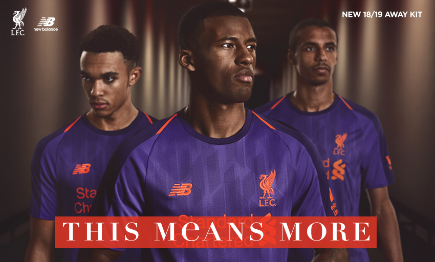 11c29f22eee Liverpool launch new 'deep violet' and orange away kit for 2018/19 ...