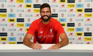 Alisson signs for Liverpool