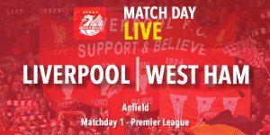 LIVE: Liverpool v West Ham